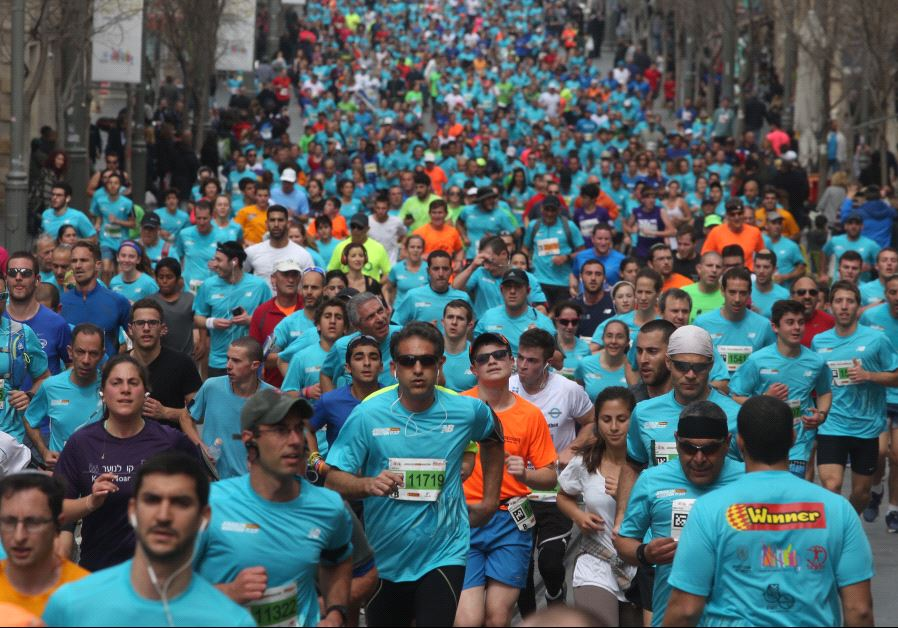 Runners in the 2017 Jerusalem marathon (photo credit: MARC ISRAEL SELLEM/THE JERUSALEM POST)