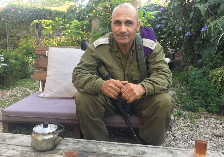 Major Tamir Sawad at his base in southern Israel (credit: Anna Ahronheim)