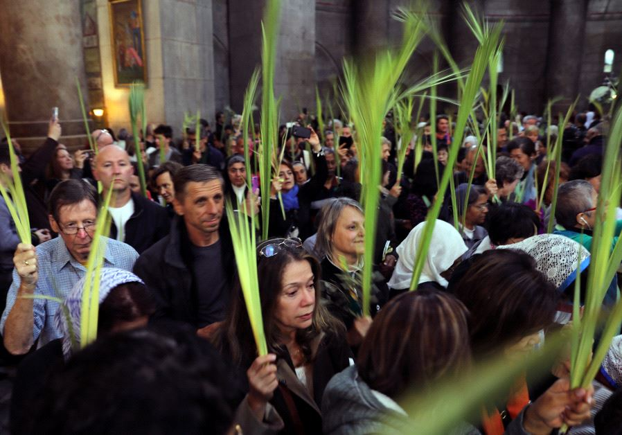 Several Hundred Christian Worshippers Attended A Palm Sunday Procession In Jerusalem On The Day That Marked The Start Of Holy Week Which Ends On Easter