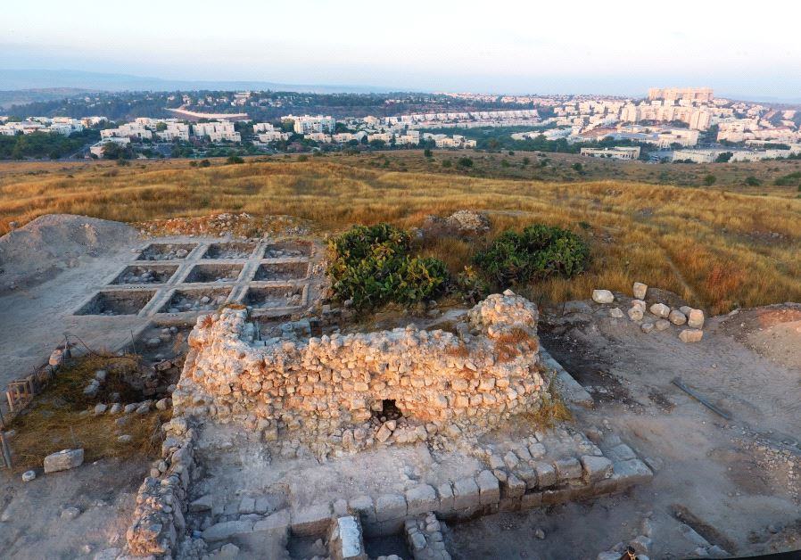 The Tittora Hill excavation site at Modiin. (Courtesy of Yitzhak Marmelstein, Israel Antiquities Authority)