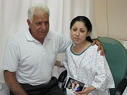 Magda Ouda visits Miriam Marviz, 26, who received