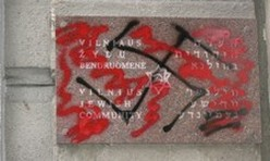 Anti-Semitic graffiti found on the walls of Jewish
