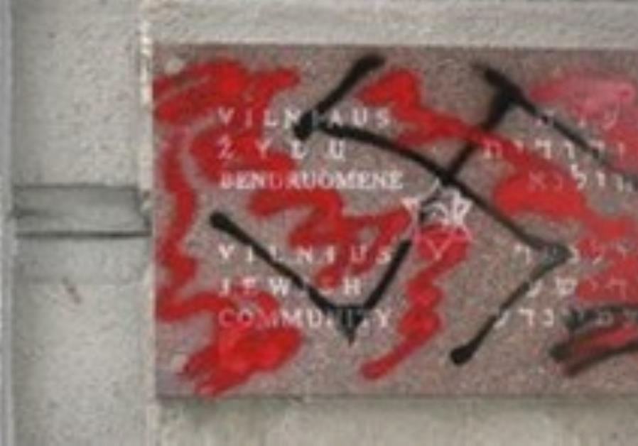Anti-Semitic graffiti found on the walls of Jewish