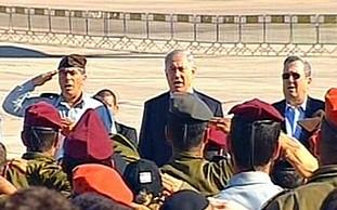 Ashkenazi, Netanyahu and Barak at Thursday's cerem