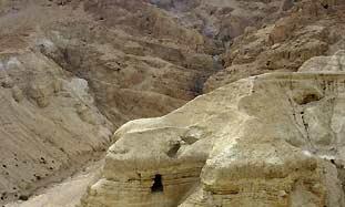 The caves at Qumran.