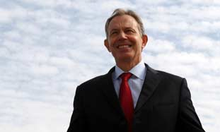 Quartet envoy to the Middle East Tony Blair.