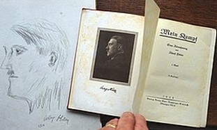 Mein Kampf signed by Adolf Hitler.