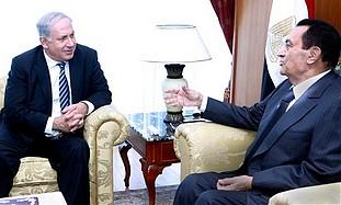 Mubarak and Netanyahu meet in Sharm e-Sheikh.