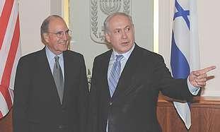 Netanyahu meets Mitchell.