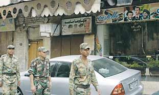 soldiers in Damascus