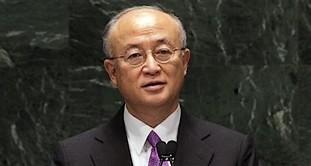 IAEA Director General Yukiya Amano addresses the N