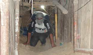 A Gaza smuggling tunnel.