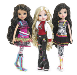 Moxie Girlz has more modest apparel and figures th