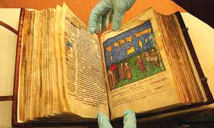 The second volume of a circa 1457 handwritten 'Mis