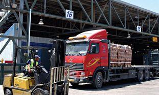 Gaza bound truck