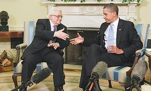 US President Barack Obama hosts PA President Mahmo