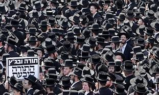 Haredi protesters in Jerusalem