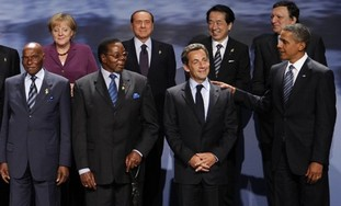Group photo of world leaders