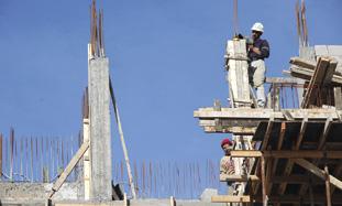 Men building
