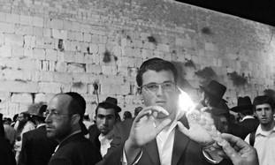PRAYERS AT the Western Wall on Tisha Be'Av eve last year.