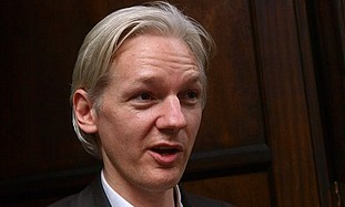 Founder and editor of the WikiLeaks website, Julian Assange.