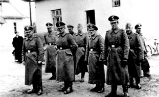 Nazi guards at the Belzec concentration camp in Poland.
