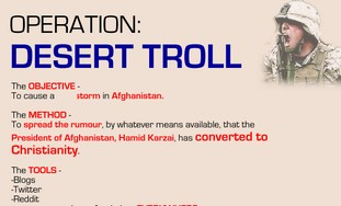 Web trolling campaign