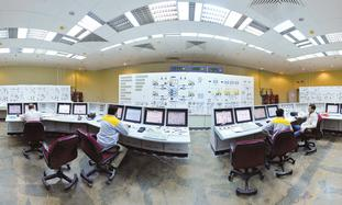 Iranian technicians at Bushehr nuclear power plant