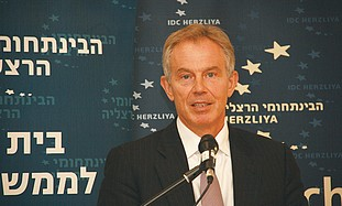 Quartet Envoy Tony Blair