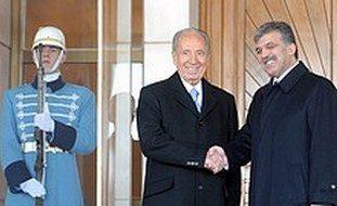 President Peres meets Turkish President Gul