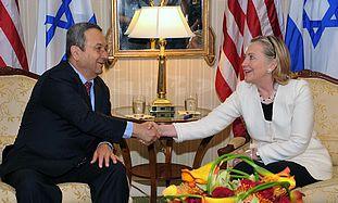 Ehud Barak and Hilary Clinton