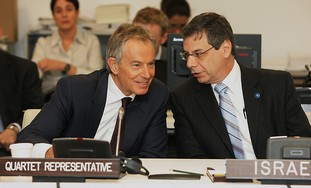 Deputy FM Danny Ayalon and Quartet Rep. Tony Blair