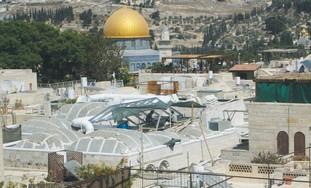 Construction in Jerusalem's Jewish Quarter