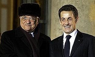 French President Sarkozy and PA President Abbas