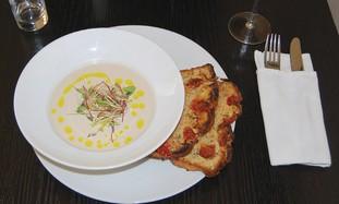 Yogurt-roasted eggplant soup