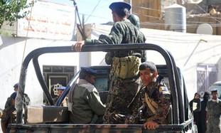 Yemeni policemen patrolling