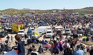 Tea Partiers rally against Nevada Sen. Harry Reid