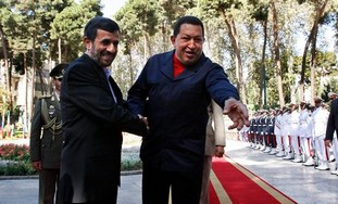 Hugo Chavez meets with Mahmoud Ahmadinejad