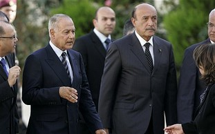 Ahmed Aboul Gheit and Omar Suleiman of Egypt.