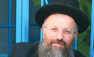 RABBI SHMUEL Eliyahu, chief rabbi of Safed.