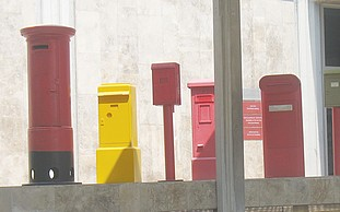 Some mailboxes in Israel.