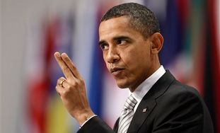 US President Barack Obama gives a media briefing a