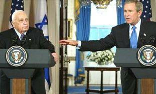 Ariel Sharon and George W. Bush