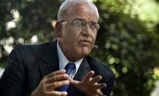 Chief Palestinian negotiator Saeb Erekat
