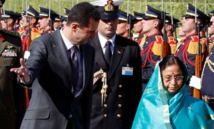 Syrian President Assad and Indian President Patil