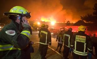 Firefighters battle Carmel blaze