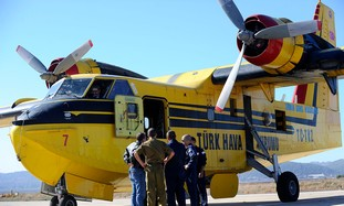 Turkish firefighting plane helps in Carmel fire