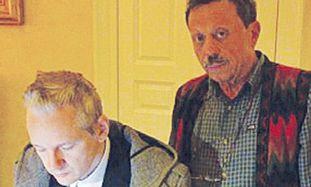 Israel Shamir with Julian Assange