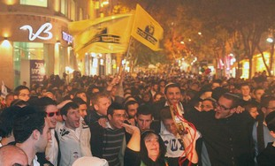 Right wing protestors in Jerusalem