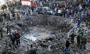 The site of Rafiq Hariri's assassination [file]